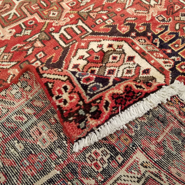 "8'0"" x 11'8""   Persian Karaja Rug Back View"