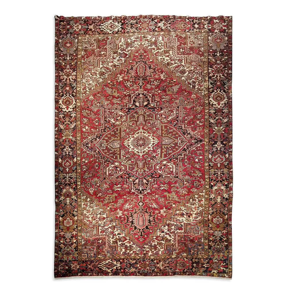 "8'11"" x 12'4""   Persian Heriz Rug Top View"