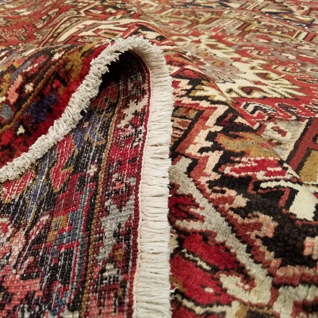 "8'11"" x 12'4""   Persian Heriz Rug Back View"