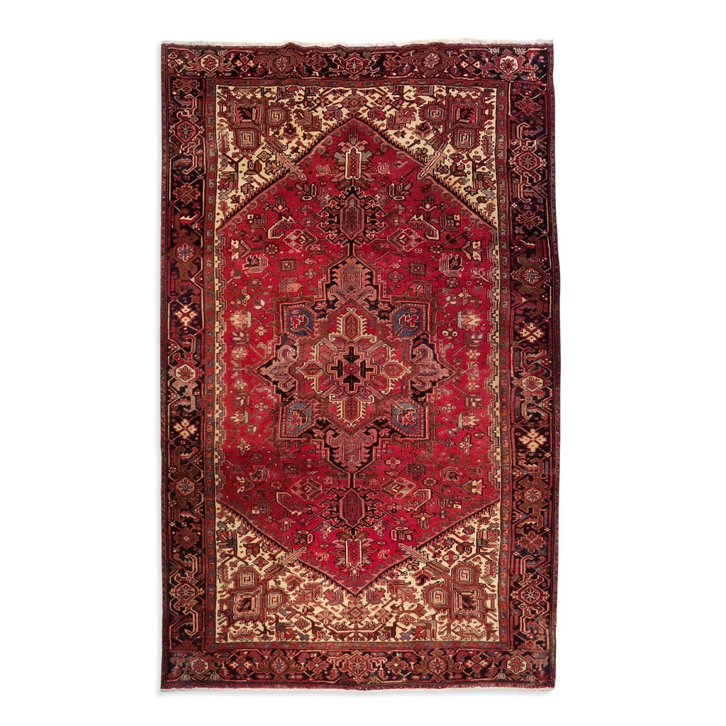 "7'10"" x 11'7""   Persian Heriz Rug Top View"