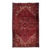 "7'10"" x 11'9""   Persian Heriz Rug Top View"
