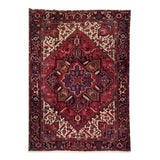"8'7"" x 11'3""   Persian Heriz Rug Top View"