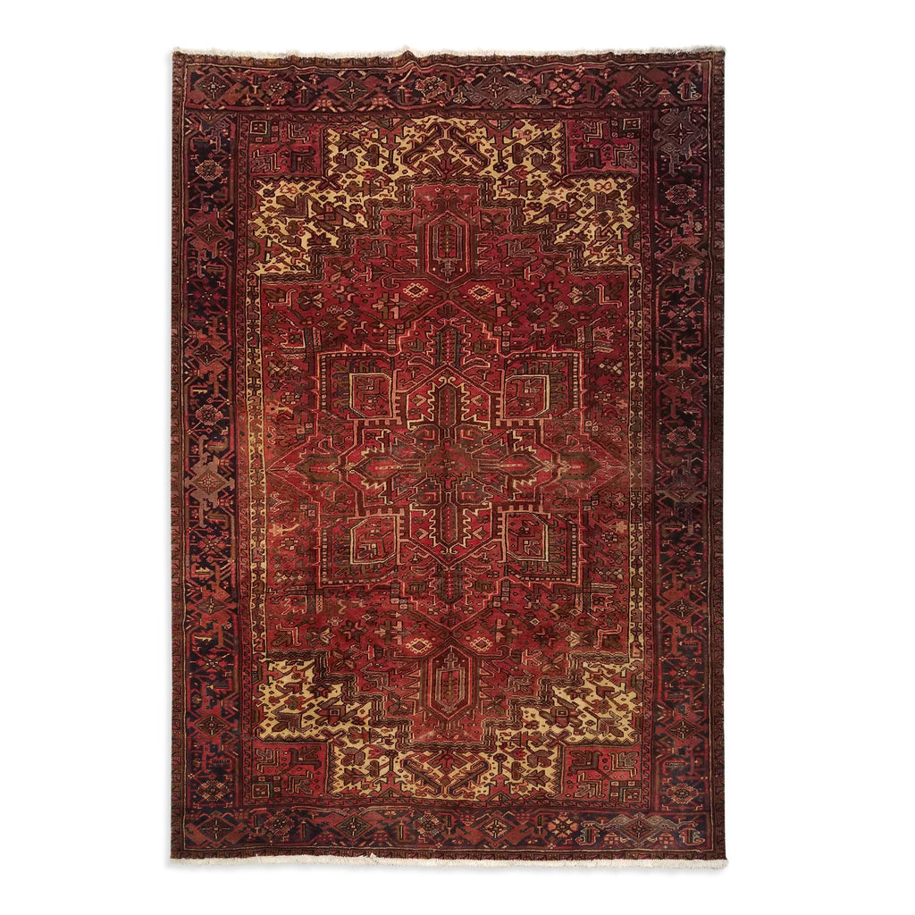 "7'11"" x 11'0""   Persian Heriz Rug Top View"