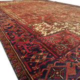 "7'11"" x 11'0""   Persian Heriz Rug Back View"
