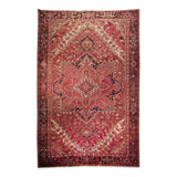 "9'8"" x 13'9""   Persian Heriz Rug Top View"