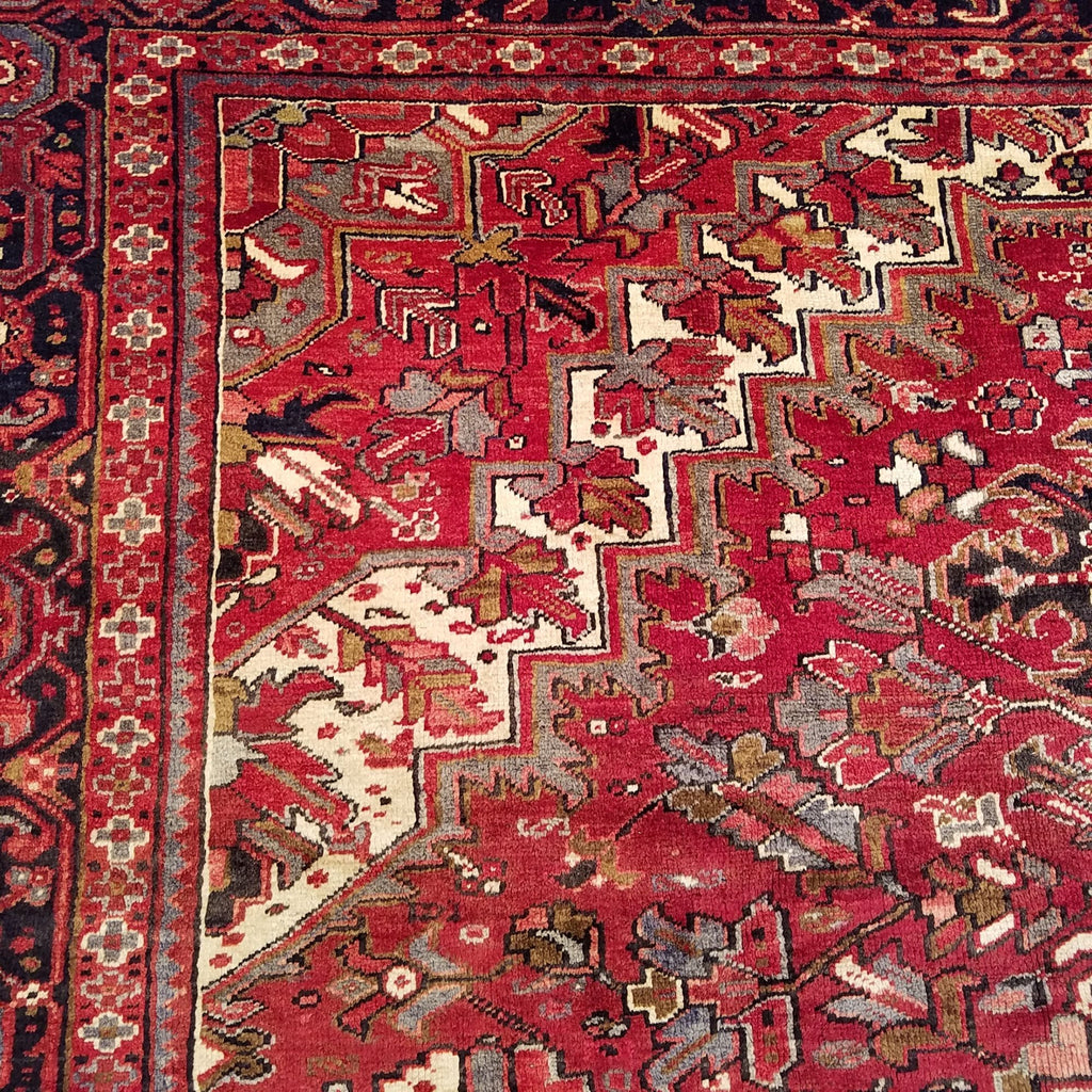 "9'8"" x 13'9""   Persian Heriz Rug Back View"