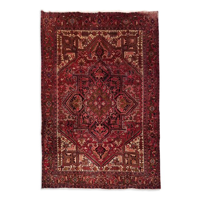 "7'6"" x 10'2""   Persian Heriz Rug Top View"