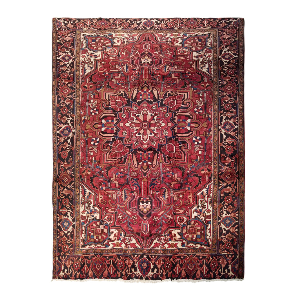 "7'10"" x 10'8""   Persian Heriz Rug Top View"