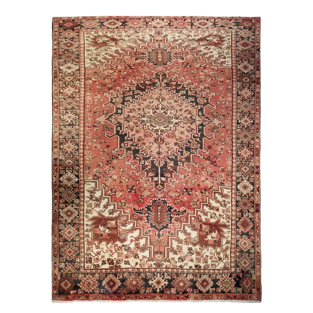 "8'3"" x 10'11""   Persian Heriz Rug Top View"