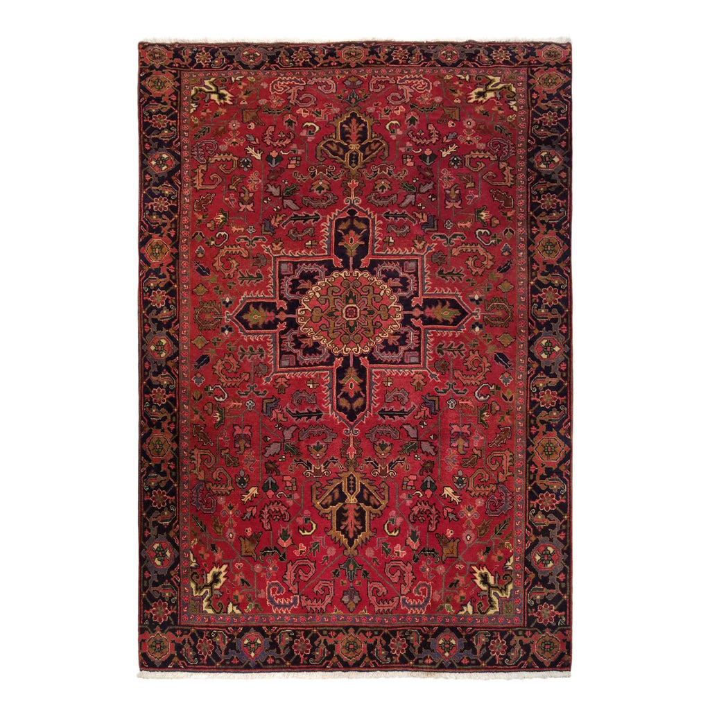 "7'3"" x 10'5""   Persian Heriz Rug Top View"