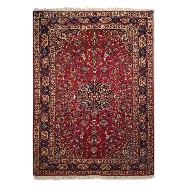 "4'11"" x 6'8""   Persian Nain Tudesh Rug Top View"