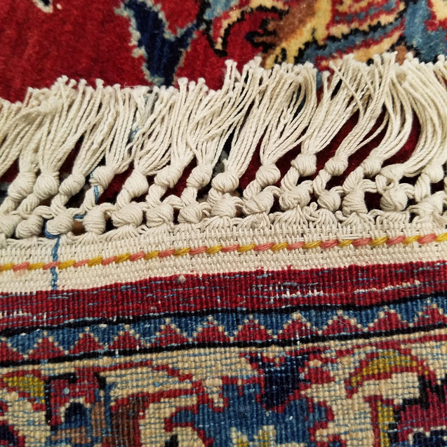 "4'11"" x 6'8""   Persian Nain Tudesh Rug Back View"