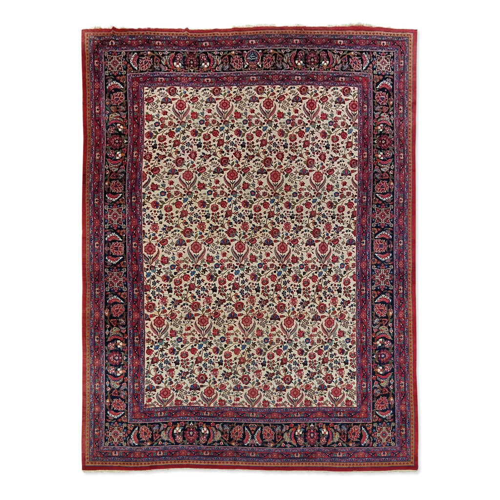 "10'6"" x 13'9""   Antique Persian Khorasan Rug Top View"