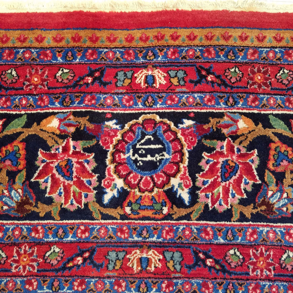 "10'6"" x 13'9""   Antique Persian Khorasan Rug Angle View"