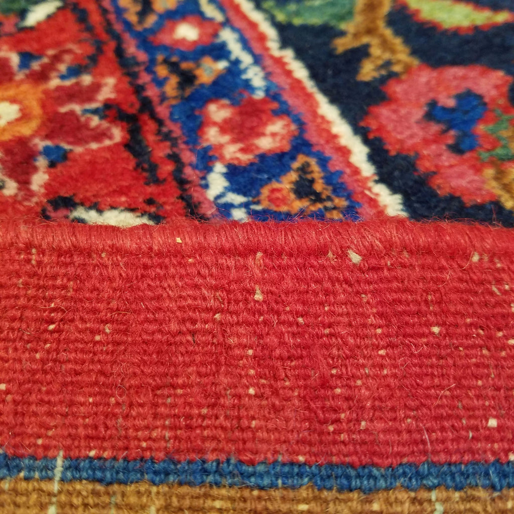 "10'6"" x 13'9""   Antique Persian Khorasan Rug Back View"