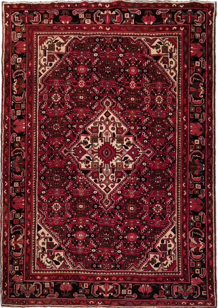 "5'3"" x 7'5""   Persian Hosseinabad Rug Top View"