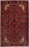 "4'7"" x 7'5""   Persian Hosseinabad Rug Top View"