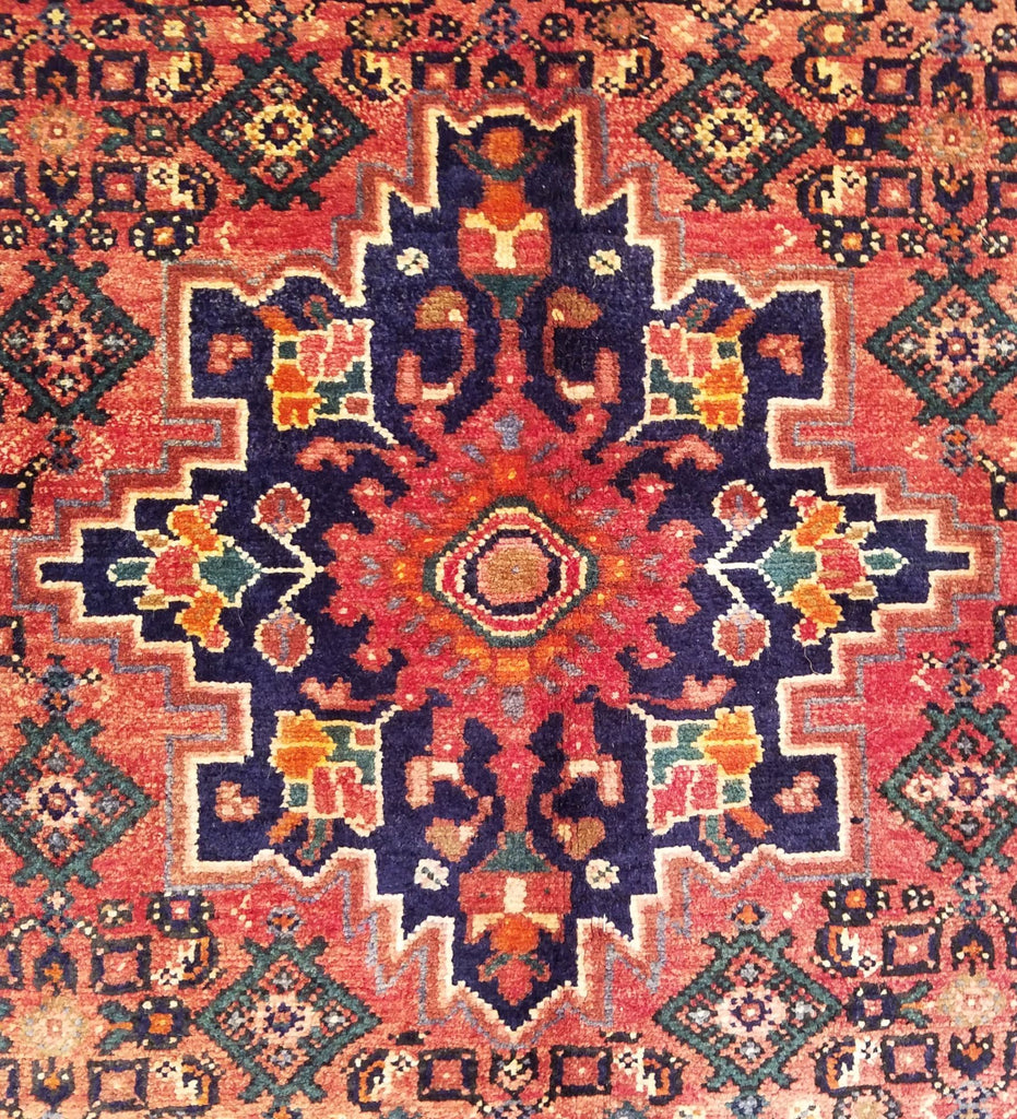 "4'7"" x 7'5""   Persian Hosseinabad Rug Angle View"