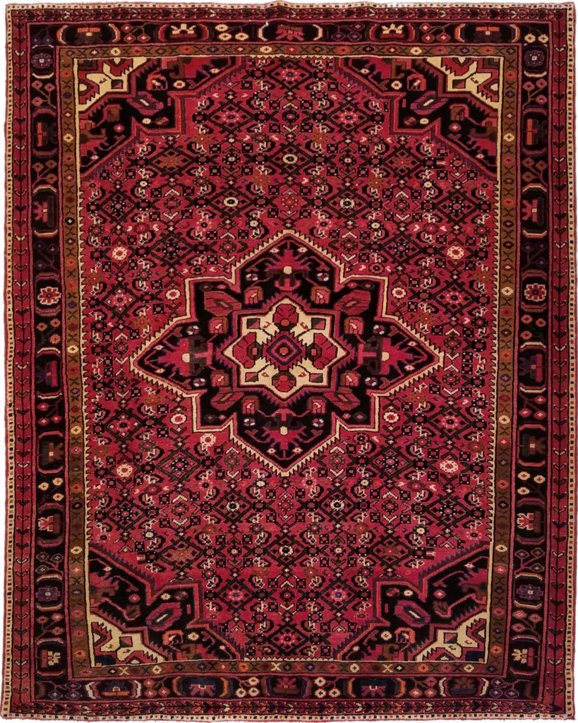 "5'8"" x 7'1""   Persian Hosseinabad Rug Top View"