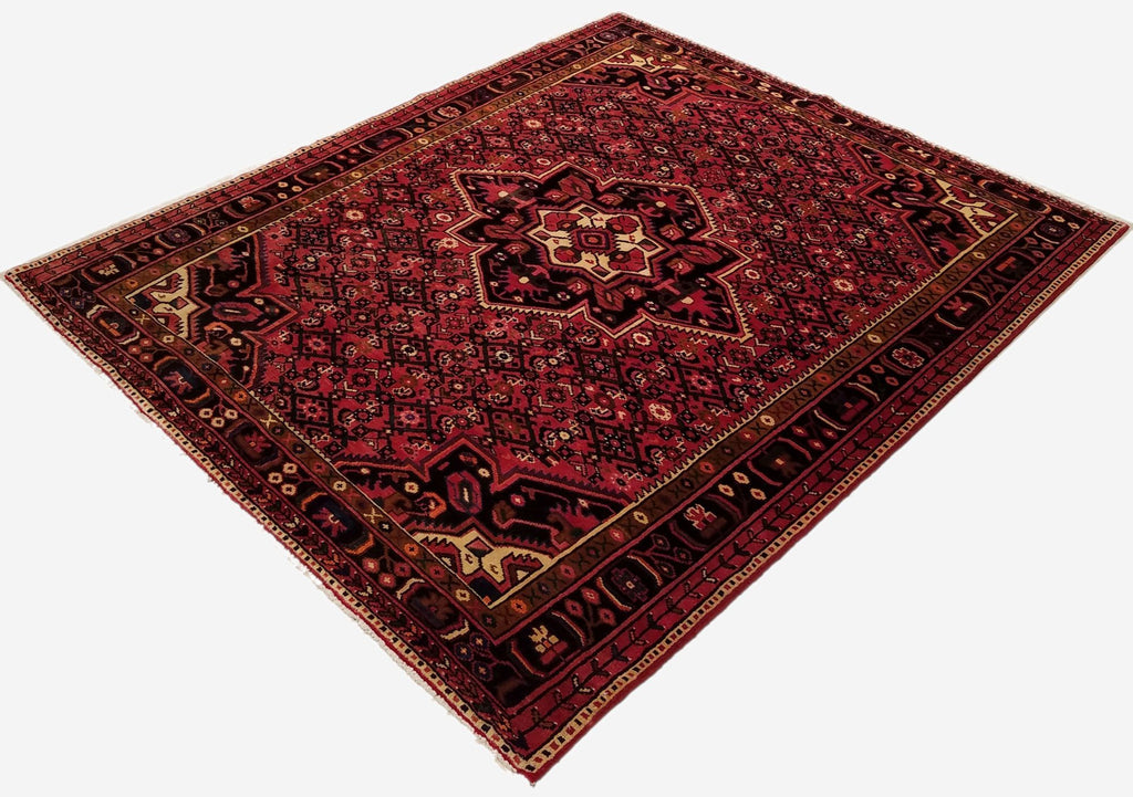 "5'8"" x 7'1""   Persian Hosseinabad Rug Angle View"