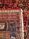 "5'8"" x 7'1""   Persian Hosseinabad Rug Back View"