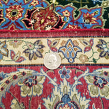 "3'8"" x 5'5""   Silk on Wool Persian Isfahan Rug Back View"