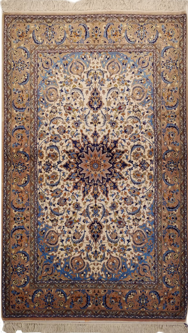"3'3"" x 5'9""   Persian Isfahan Rug Top View"