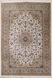 "3'3"" x 4'10""   Silk Persian Keshan Rug Top View"