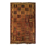 "4'2"" x 6'8""   Persian Gabbeh Rug Top View"