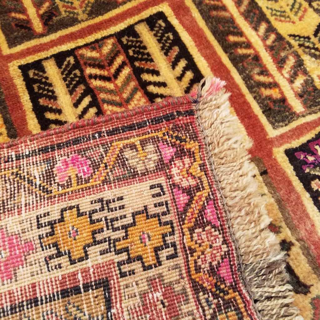 "4'2"" x 6'8""   Persian Gabbeh Rug Back View"
