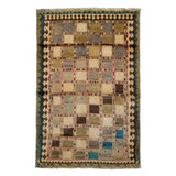 "3'5"" x 5'1""   Persian Gabbeh Rug Top View"