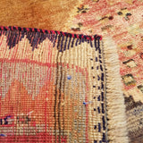 "4'8"" x 7'5""   Persian Gabbeh Rug Back View"