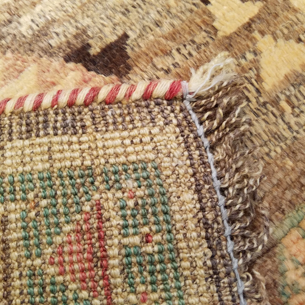 "3'6"" x 5'4""   Persian Gabbeh Rug Back View"