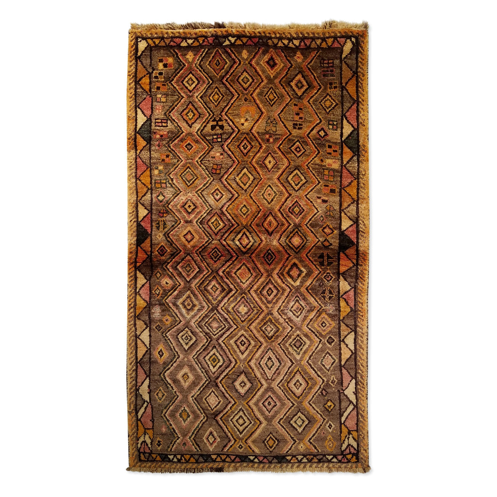 "3'3"" x 5'11""   Persian Gabbeh Rug Top View"
