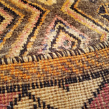 "3'3"" x 5'11""   Persian Gabbeh Rug Back View"