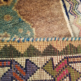 "3'2"" x 5'3""   Persian Gabbeh Rug Back View"