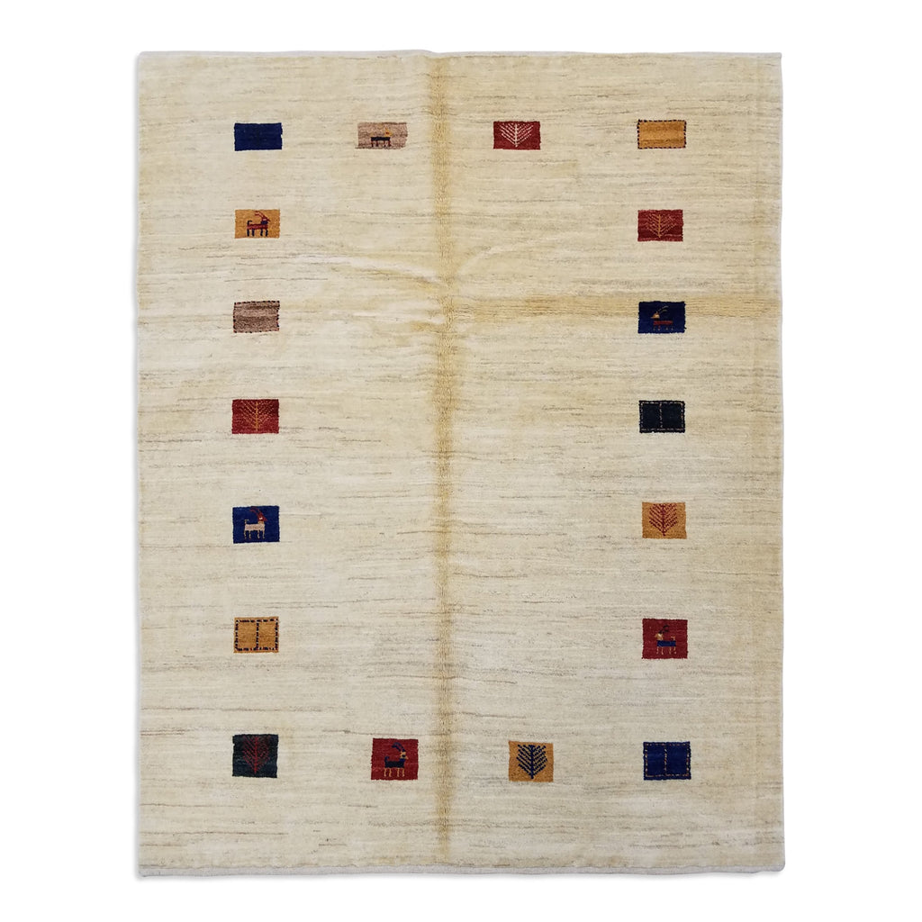 "4'10"" x 6'1""   Persian Gabbeh Rug Top View"