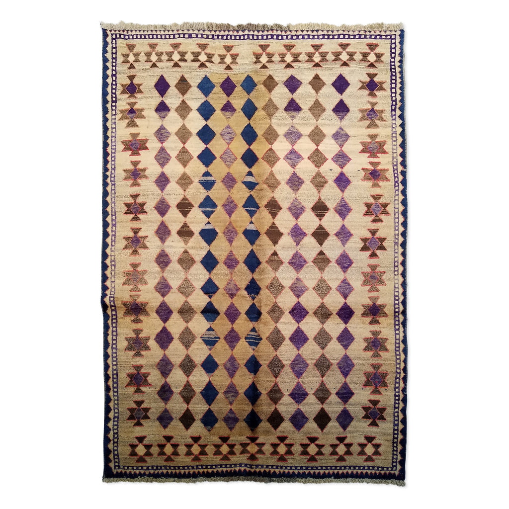 "4'8"" x 6'11""   Persian Gabbeh Rug Top View"