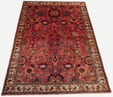 "5'5"" x 7'4""   Persian Malayer Nanagh Rug Top View"