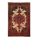 "4'4"" x 6'8""   Antique Persian Malayer Rug Top View"