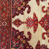 "4'4"" x 6'8""   Antique Persian Malayer Rug Back View"