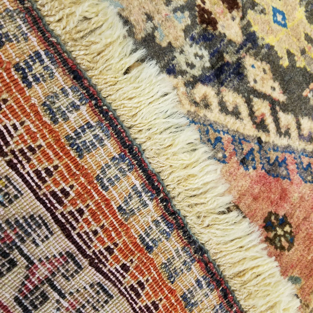"3'5"" x 5'3""   Persian Gabbeh Rug Back View"