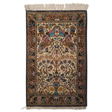 "2'7"" x 4'1""   Silk Persian Qom Rug Top View"