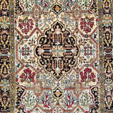 "2'6"" x 4'3""   Silk Persian Qom Rug Angle View"