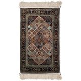 "2'7"" x 4'5""   Silk Persian Qom Rug Top View"