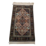 "2'7"" x 4'5""   Silk Persian Qom Rug Angle View"