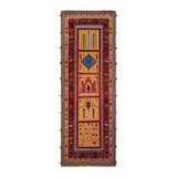 "3'3"" x 9'3""   Persian Qashqai Sumak Runner Rug Top View"