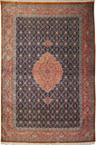 "4'5"" x 6'8""   Silk Persian Qom Rug Top View"