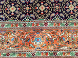 "4'5"" x 6'8""   Silk Persian Qom Rug Angle View"