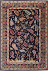 "4'4"" x 6'5""   Silk Persian Qom Tree of Life Rug Top View"